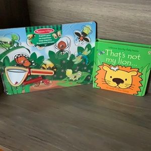 Melissa and Doug magnetic game and usborne book